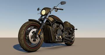 harley davidson 3d model drawing