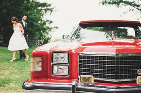Wedding Limousine Car red
