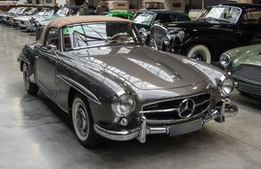 grey Oldtimer Mercedes car