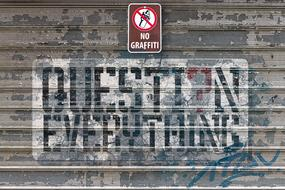 no Graffiti sign