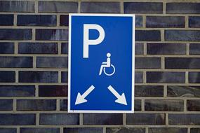 Disabled Parking sign wall