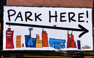 park here Sign Drawing