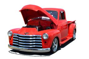Red Truck Classic Retro Isolated