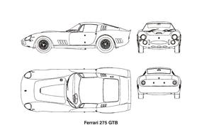 ferrari car vintage drawing