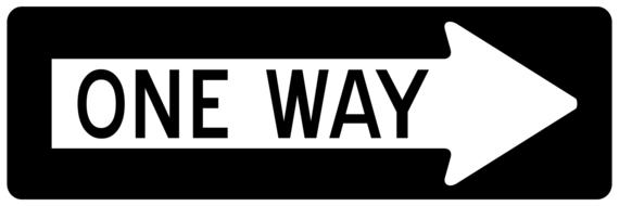 arrow one way sign drawing