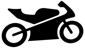 motorcycle silhouette as a drawing