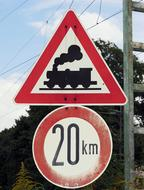 Traffic Signs train and speed limit