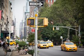 New York Yellow Cab and sign one way