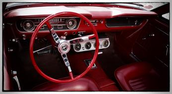 Classic Oldtimer Car red