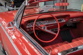 Auto Chevrolet red cabriolet