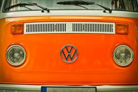 Auto Vw Bus red