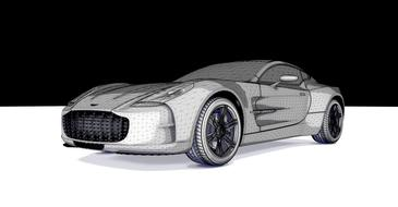 grey aston martin vantage sports car drawing