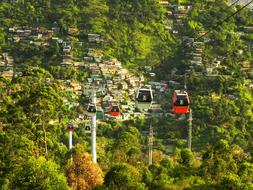Cable Car Medellin forest mountains