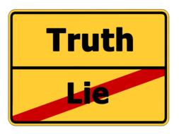 truth lie street sign drawing