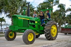 Tractor Vehicle green yellow