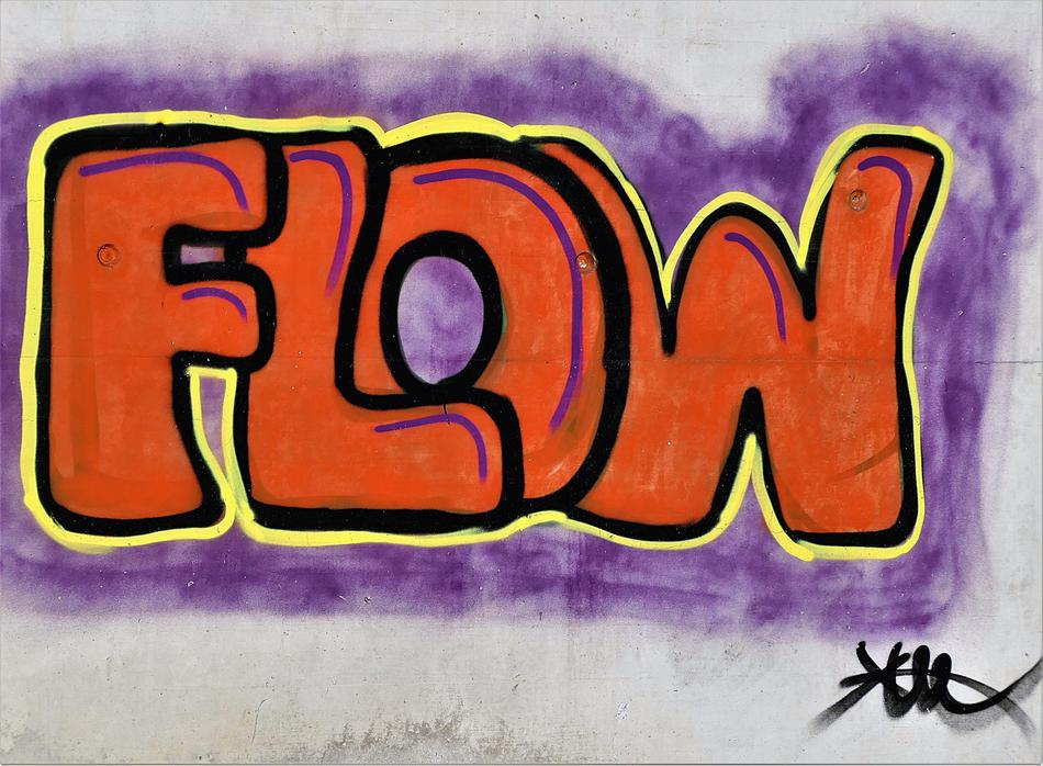 Graffiti Spray flow drawing