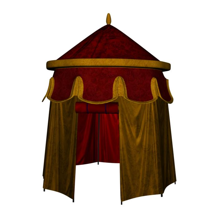 medieval tent drawing