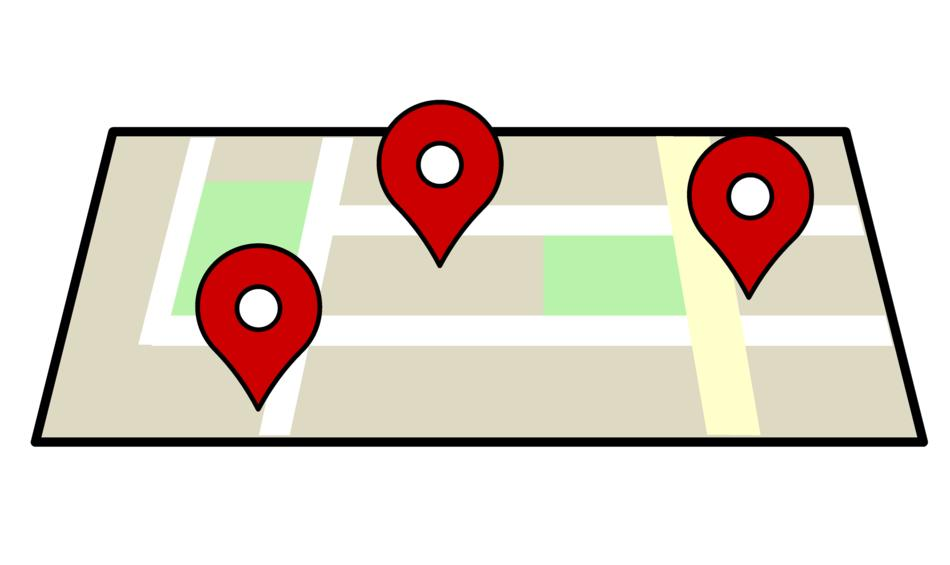 map location navigation drawing