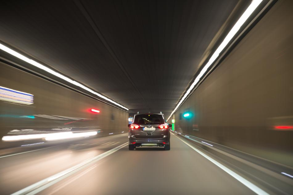 Cars Driving Tunnel