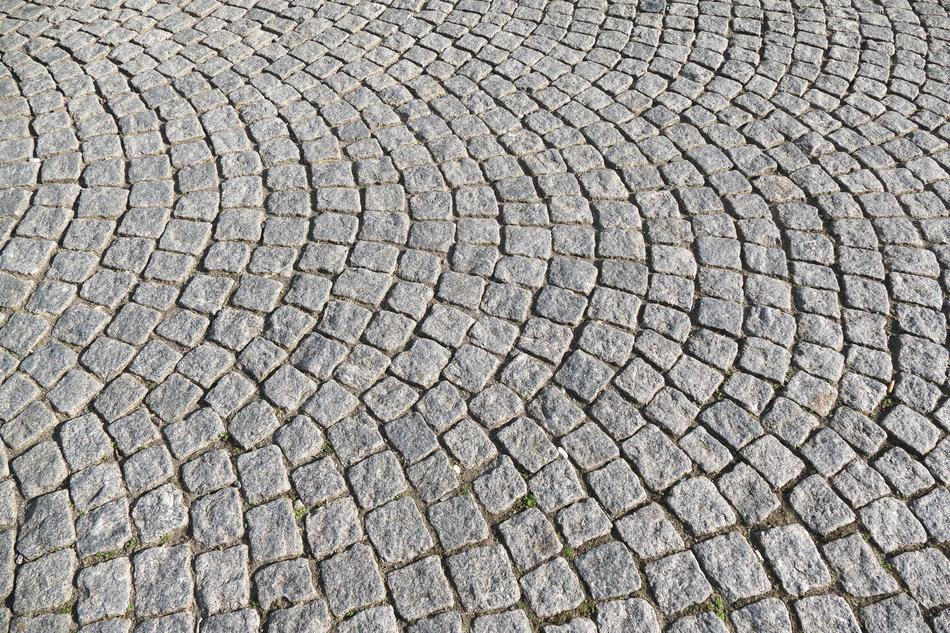 Cobblestones Paving city street