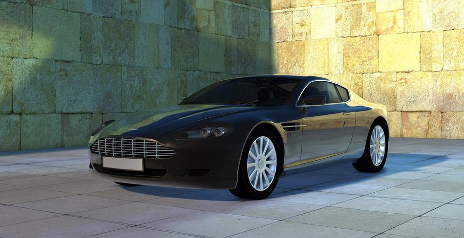 Aston Martin Vantage Sports car drawing