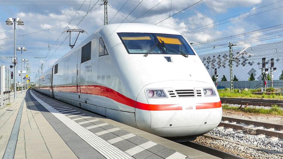 white high-speed train in Munich