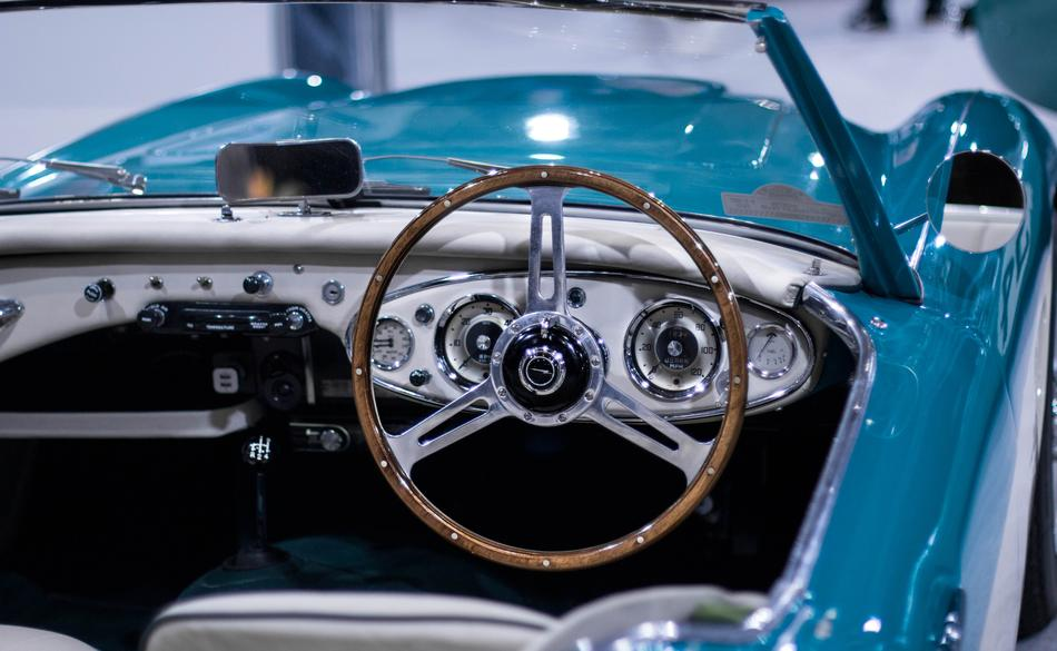 blue Steering Wheel Car