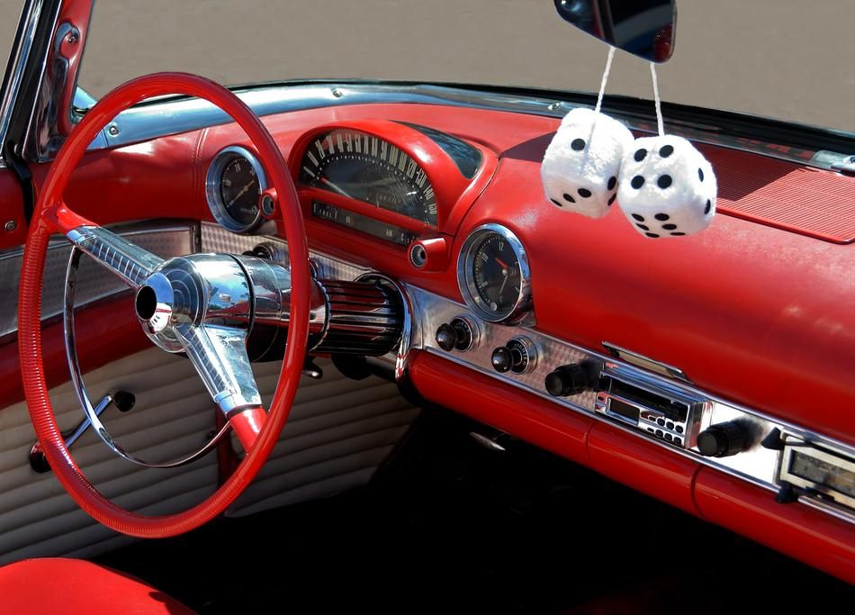 red Classic Car Interior