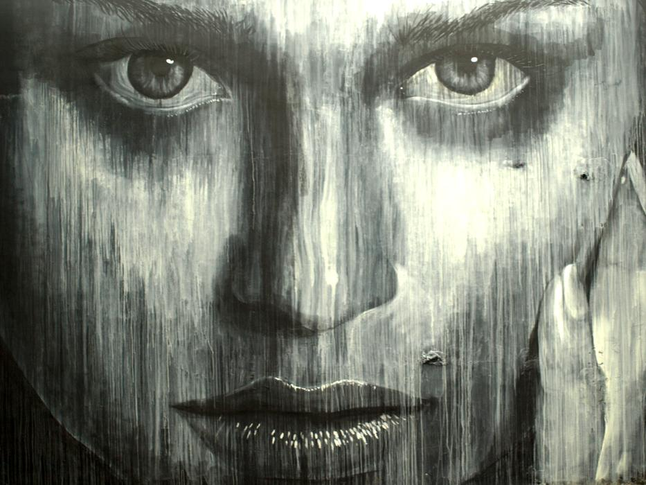 Street Art Graffiti face drawing