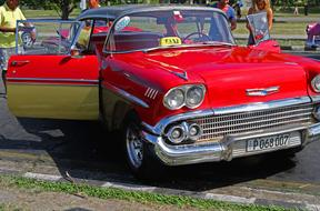 Cuba Antique Car Chevrolet red