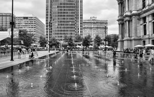 Philadelphia city water black and white