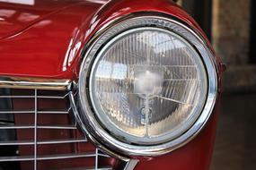 Oldtimer Fiat Auto red spotlight