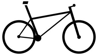 black bicycle icon drawing