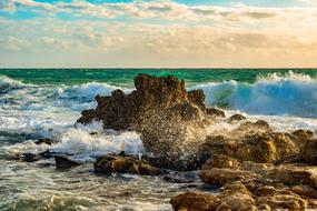 splendid Rocky Coast Wave
