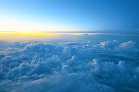 scenic blue tops of Clouds, aerial view