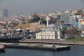 panorama of Karakoy district in Istanbul