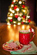 Christmas cookies and hot chocolate for Santa Claus