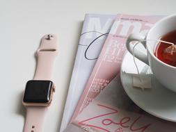 Cup Tea and apple watch