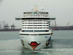 cruise ship with funny decoartion