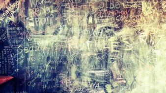 Grunge Chalkboard with writings, background