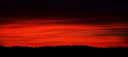 Sunset Nature red