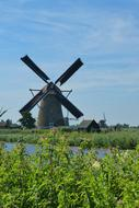 mill in Kinderdijk, Netherlands