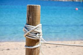 beach fence with rope