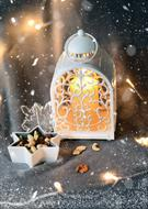 Beautiful and colorful decorations with the candle