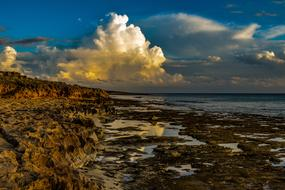 perfect Rocky Coast Clouds