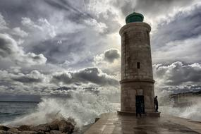 Marseille Waves and lighthouse