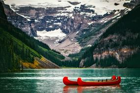 Lake Louise and red boat