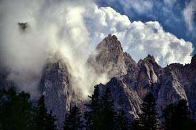 South Tyrol clouds