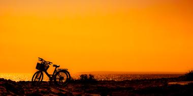 fabulous Sunset Bikes Nature