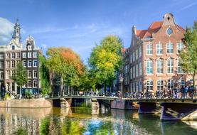 very beautiful Amsterdam city